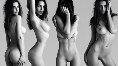 Bild markiert mit: Skinny, Black and White, Brunette, Busty, Emily Ratajkowski, Boobs, Celebrity - Star, Tummy