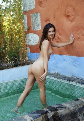 Bild markiert mit: Skinny, Brit, Brunette, Ceremonial Bath, MET Art, Ass - Butt, Cute, Pool, Small Tits